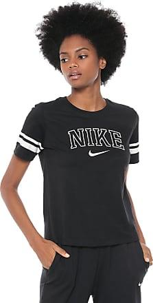 088a9919443f7 Nike Camiseta Nike Sportswear W Nsw Top Ss Vrsty Preta