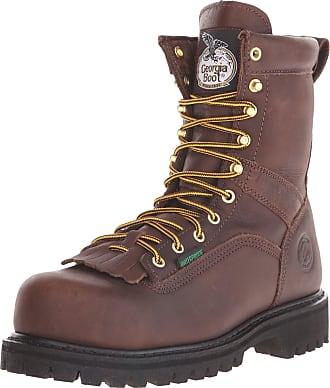 Georgia Georgia Boot Mens Georgia 8 Lace-To-Toe Steel Toe Work Boot Work Shoe, Chocolate, 9.5 W US