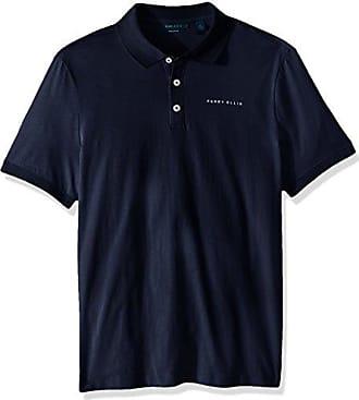 Perry Ellis Mens Logo Pima Cotton Polo, Bright Sapphire, Small