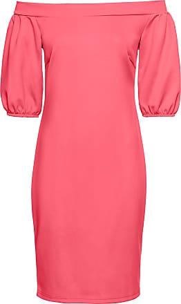 BODYFLIRT boutique Dam Scubaklänning i stark rosa kort ärm - BODYFLIRT  boutique fae5471b00195