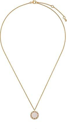Astley Clarke Colar Luna de ouro 18k com madrepérola - Metálico