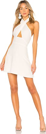 Superdown Ember Halter Fit & Flare Dress in White