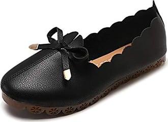 ZYUEER Damen Schuhe Flache Schuhe Mit Spitze Freizeitschuhe Weiblichen Strass Schleife Einzelne Schuhe
