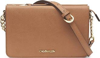 Calvin Klein Womens Hayden Saffiano Organizational Crossbody Cross Body, Caramel, One Size