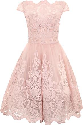 Kort festklänning i spets – väljer du vit eller rosa