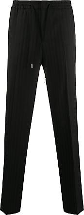 Zadig & Voltaire Perou striped straight-leg trousers - Black