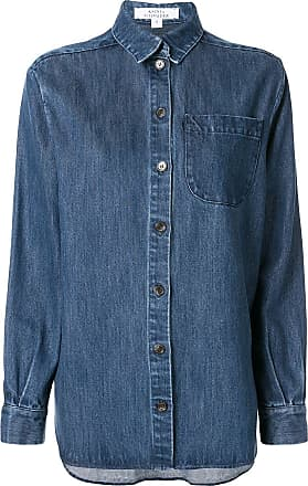 Ksenia Schnaider Camisa jeans azul