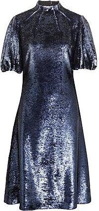 Emilia Wickstead Emilia Wickstead Woman Amara Cutout Sequined Tulle Dress Indigo Size 10