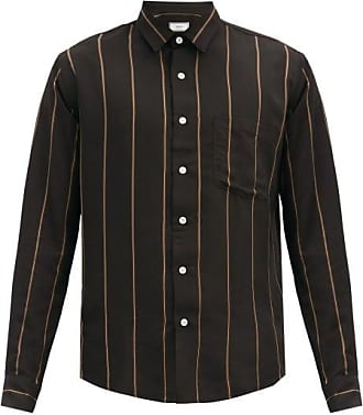 Ami Ami - Pinstriped Poplin Shirt - Mens - Black Multi