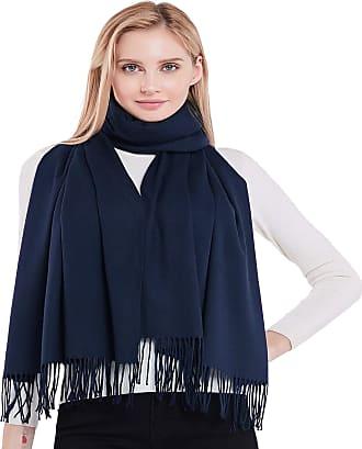 CJ Apparel Dark Blue Thick Solid Colour Design Cotton Blend Shawl Seconds Scarf Wrap Stole Throw Pashmina CJ Apparel NEW