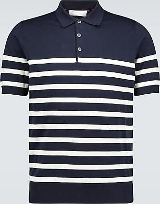 Brunello Cucinelli Gestreiftes Poloshirt aus Baumwolle