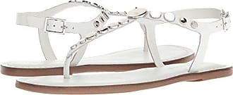 Bernardo Womens May Flat Sandal, White Antique Calf, 5.5M M US