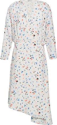 d0e67ba8ab6b Joie Joie Woman Asymmetric Printed Crepe De Chine Wrap Dress White Size XS