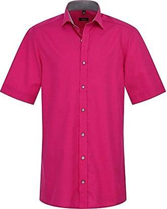 bd472307505e Eterna Herrenhemd Kurzarm Baumwoll Hemd Baumwollhemd Herren Business Modern  Fit Pink Gr. M 40