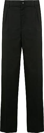 Kent & Curwen front pleated long tailored trousers - Black