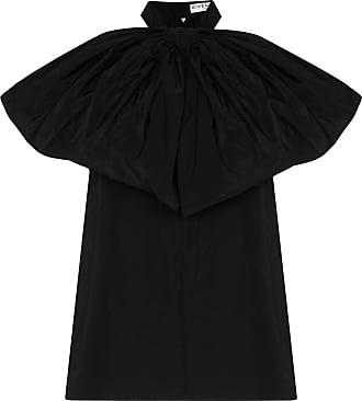 Givenchy Blusa frente única de tafetá com laço - Preto