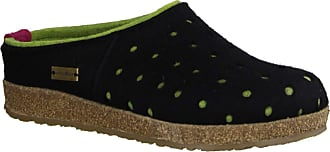 Haflinger 711064 Grizzly Holly Unisex-Adult Slippers, schuhgröße_1:39 EU, Farbe:Black