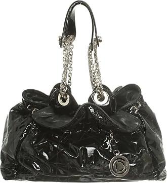 Dior gebraucht - Dior-Handtasche aus Lackleder in Schwarz - Damen - Lackleder