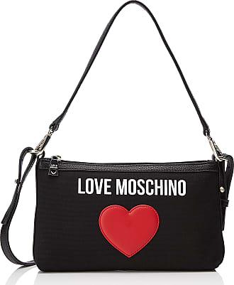 34ddf6c48ed Love Moschino Borsa Canvas E Pebble Pu, Womens Cross-Body Bag, Black (