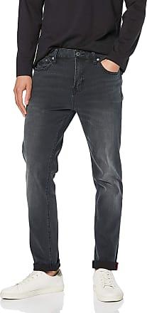 Superdry Mens Tyler Slim Jeans, Black (Portland Washed Black Vf7), 36 W / 32L