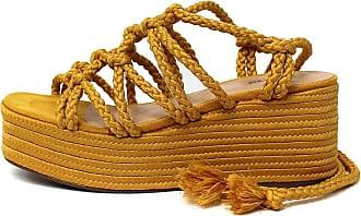 Damannu Shoes Sandália Brooke - Cor: Mostarda - Tamanho: 35