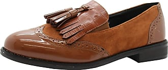 Saute Styles Womens Flats Brogue Loafers Patent Tassels Office Pumps Ladies School Shoes Size 7