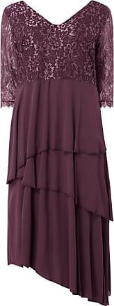 Sheego PLUS SIZE Kleid aus Spitze und Chiffon