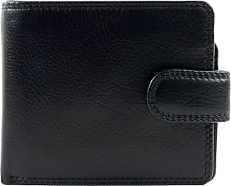 Visconti Mens Leather Tabbed Bi-Fold Wallet Gift Boxed (Black)