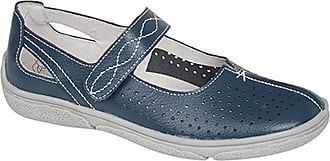 Boulevard Womens/Ladies Touch Fastening Punched Summer Bar Shoes (6 UK) (Navy)