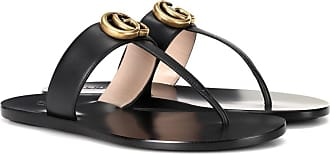 Gucci Marmont leather thong sandals