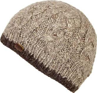 KuSan 100% Wool Cable Twisted Yarm Beanie Hat PK1727 (Oatmeal)