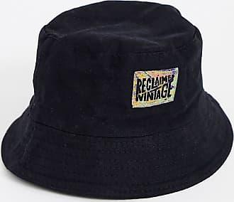 Reclaimed Vintage branded bucket hat in black