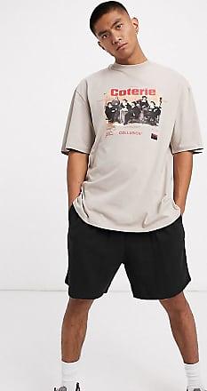 Collusion Oversize-T-Shirt in Graubraun mit Print-Stone