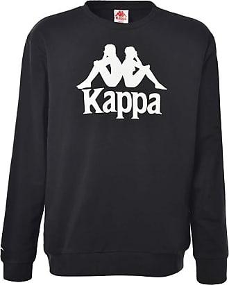 Kappa Mens Authentic Telas Lightweight Crew Sweatshirt Black XL