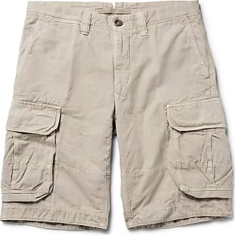 Incotex Washed Cotton And Linen-blend Cargo Shorts - Neutral