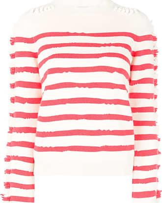 Barrie Suéter listrado - Vermelho