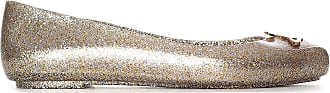 Vivienne Westwood x Melissa Space Love 21 Gold Metallic Glitter Orb Ballet Pumps 40 Gold Metalic