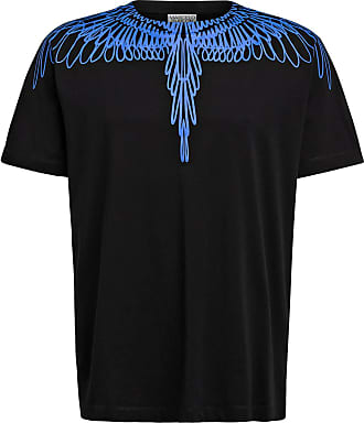 Marcelo Burlon T-Shirt PICTORIAL WINGS - SCHWARZ/ BLAU