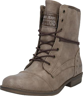 Mustang Jeans Bottines à lacets taupe