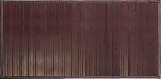 InterDesign Formbu Bamboo Floor Mat Non-Skid, Water-Resistant Runner Rug for Bathroom, Kitchen, Entryway, Hallway, Office, Mudroom, Vanity, 48 x 24, Mocha Brown