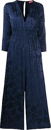 Guardaroba Macacão de jacquard com estampa floral - Azul