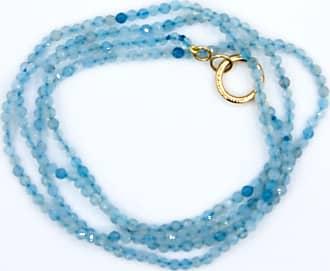 We Fit Store Colar Magnólia de Ouro e Jade - Mulher - Azul - Único BR