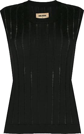 Uma Wang sheer ribbed-knit vest - Black