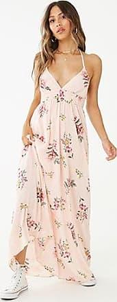 Forever 21 Forever 21 Crinkled Floral Halter Maxi Dress Pink/multi