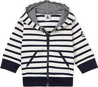 Petit Bateau Sudadera con capucha de rayas marineras para bebé niño 62e8595748be