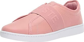 Lacoste Womens Carnaby EVO Sneaker, Pink/White, 10 Medium US
