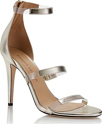 Tamara Mellon Frontline Platino Nappa Sandals, Size - 35.5