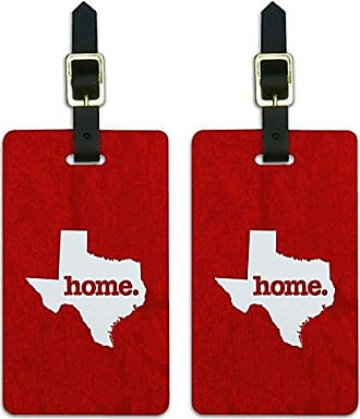 Graphics & More Graphics & More Texas Tx Home State Luggage Suitcase Id Tags-Textured Red, White