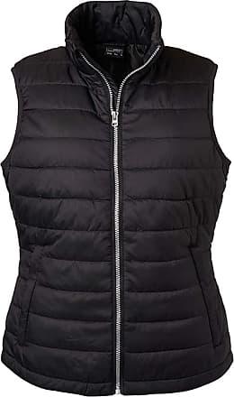 James & Nicholson Ladies Light, Padded Quilted Vest (S, Black)