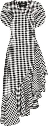 Paper London Vestido Colorados xadrez com babados - Preto